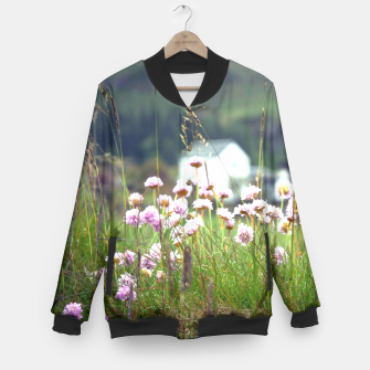 Thumbnail image of Purple Clover Wild Flowers  Baseball Jacket, Live Heroes