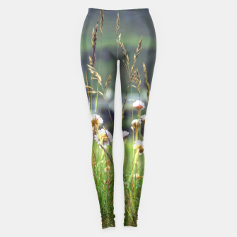 Thumbnail image of Purple Clover Wild Flowers  Leggings, Live Heroes
