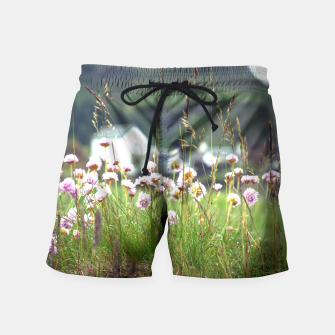 Thumbnail image of Purple Clover Wild Flowers  Swim Shorts, Live Heroes