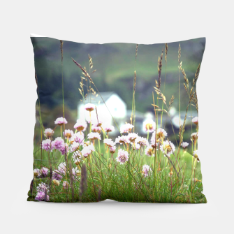 Thumbnail image of Purple Clover Wild Flowers  Pillow, Live Heroes
