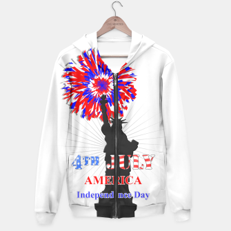 Thumbnail image of Happy 4th Of July Statue Of Liberty American Patriotic Graphic Hoodie, Live Heroes