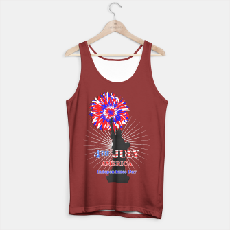Thumbnail image of Happy 4th Of July Statue Of Liberty American Patriotic Graphic Tank Top, Live Heroes