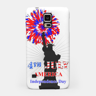 Thumbnail image of Happy 4th Of July Statue Of Liberty American Patriotic Graphic Samsung Case, Live Heroes