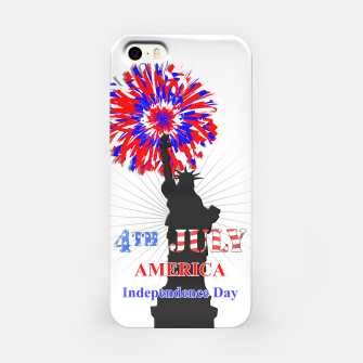 Thumbnail image of Happy 4th Of July Statue Of Liberty American Patriotic Graphic iPhone Case, Live Heroes