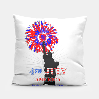 Thumbnail image of Happy 4th Of July Statue Of Liberty American Patriotic Graphic Pillow, Live Heroes