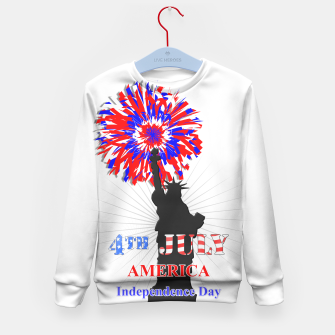Thumbnail image of Happy 4th Of July Statue Of Liberty American Patriotic Graphic Kid's Sweater, Live Heroes