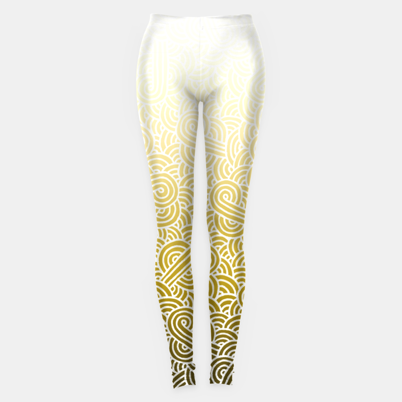 e500937a1bb50f Ombre yellow and white swirls doodles Leggings, Live Heroes