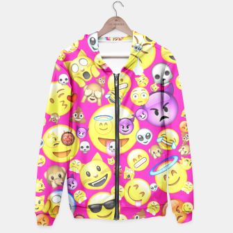 Thumbnail image of Pink Emoji All Over Print  Hoodie, Live Heroes
