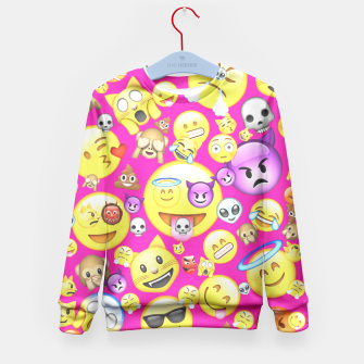 Thumbnail image of Pink Emoji All Over Print  Kid's Sweater, Live Heroes