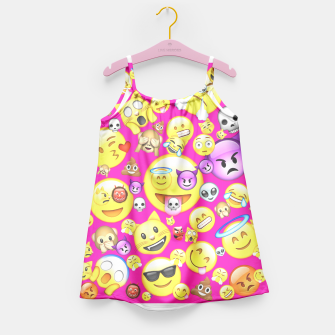 Thumbnail image of Pink Emoji All Over Print  Girl's Dress, Live Heroes