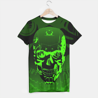 Thumbnail image of Gamer Skull CARTOON GREEN T-shirt, Live Heroes