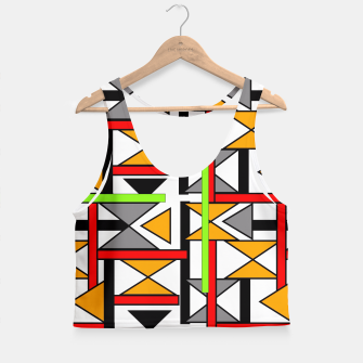 Thumbnail image of Geometric Abstract Funky Colorful Print Crop Top, Live Heroes