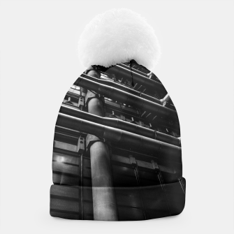 Thumbnail image of Industrial Pipes Beanie, Live Heroes