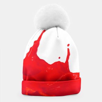 Thumbnail image of Glossy Red Paint Splash Beanie, Live Heroes