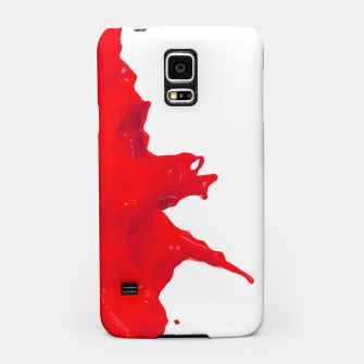 Thumbnail image of Glossy Red Paint Splash Samsung Case, Live Heroes