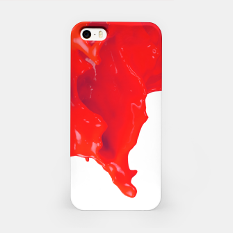 Thumbnail image of Glossy Red Paint Splash iPhone Case, Live Heroes