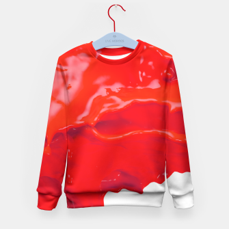 Thumbnail image of Glossy Red Paint Splash Kid's Sweater, Live Heroes