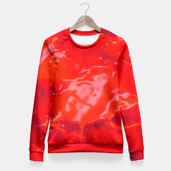 Thumbnail image of Glossy Red Paint Splash Fitted Waist Sweater, Live Heroes
