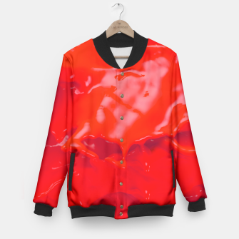 Thumbnail image of Glossy Red Paint Splash Baseball Jacket, Live Heroes