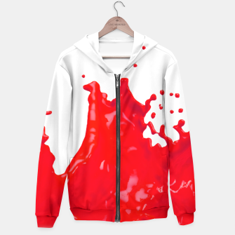 Thumbnail image of Glossy Red Paint Splash 02 Hoodie, Live Heroes