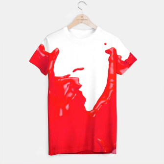 Thumbnail image of Glossy Red Paint Splash 02 T-shirt, Live Heroes