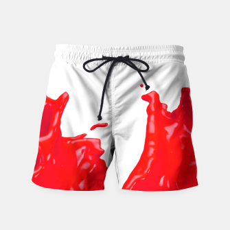 Thumbnail image of Glossy Red Paint Splash 02 Swim Shorts, Live Heroes