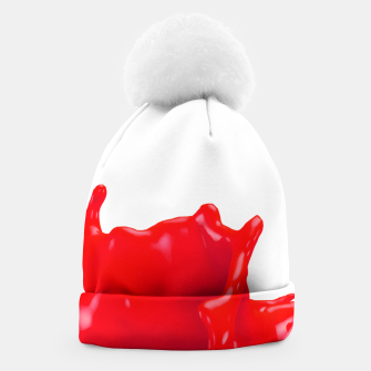 Thumbnail image of Glossy Red Paint Splash 02 Beanie, Live Heroes