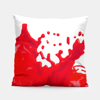 Thumbnail image of Glossy Red Paint Splash 02 Pillow, Live Heroes