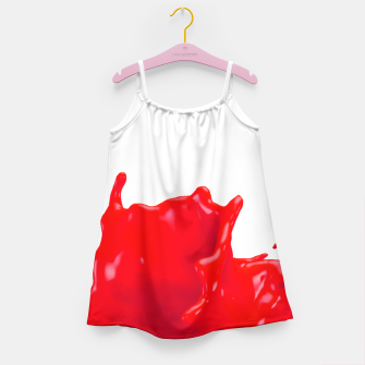 Thumbnail image of Glossy Red Paint Splash 02 Girl's Dress, Live Heroes