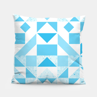 Thumbnail image of Pastel Blue geometric Pillow, Live Heroes