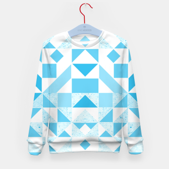 Thumbnail image of Pastel Blue geometric Kid's Sweater, Live Heroes