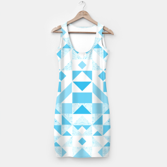 Thumbnail image of Pastel Blue geometric Simple Dress, Live Heroes