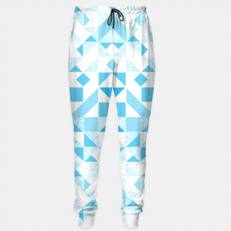 Thumbnail image of Pastel Blue geometric Sweatpants, Live Heroes