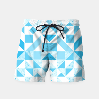 Thumbnail image of Pastel Blue geometric Swim Shorts, Live Heroes