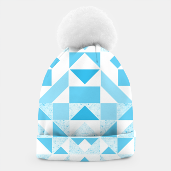 Thumbnail image of Pastel Blue geometric Beanie, Live Heroes