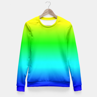 Miniatur Crayon Box Ombre Rainbow Fitted Waist Sweater, Live Heroes