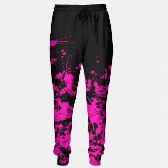 Thumbnail image of Florescent Pink Paint Splatter  Sweatpants, Live Heroes
