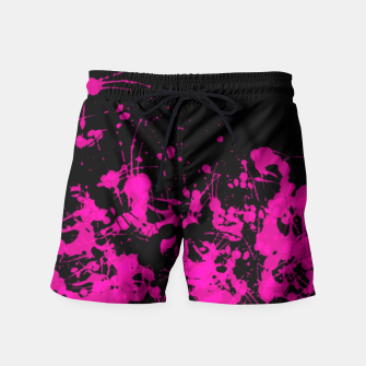 Thumbnail image of Florescent Pink Paint Splatter  Swim Shorts, Live Heroes