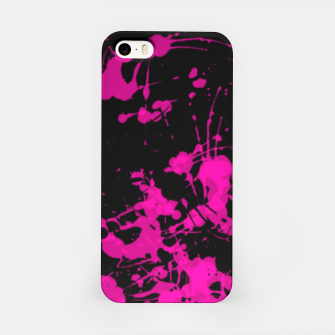 Thumbnail image of Florescent Pink Paint Splatter  iPhone Case, Live Heroes