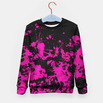 Thumbnail image of Florescent Pink Paint Splatter  Kid's Sweater, Live Heroes