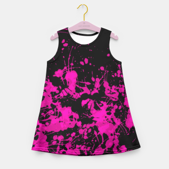 Thumbnail image of Florescent Pink Paint Splatter  Girl's Summer Dress, Live Heroes
