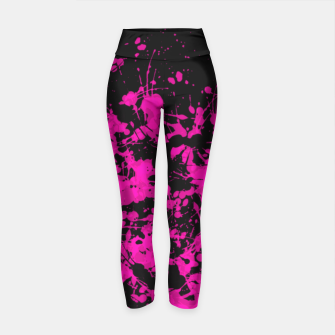 Thumbnail image of Florescent Pink Paint Splatter  Yoga Pants, Live Heroes