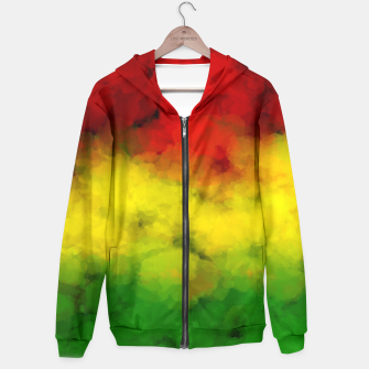 Thumbnail image of Rasta Watercolor  Hoodie, Live Heroes
