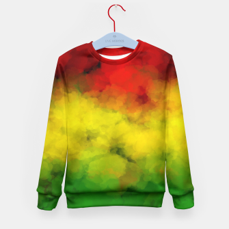 Thumbnail image of Rasta Watercolor  Kid's Sweater, Live Heroes