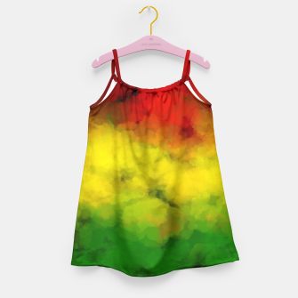 Thumbnail image of Rasta Watercolor  Girl's Dress, Live Heroes
