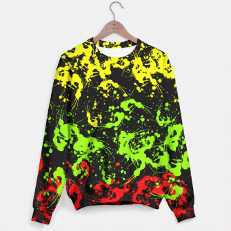 Thumbnail image of Rasta Paint Splatter  Sweater, Live Heroes