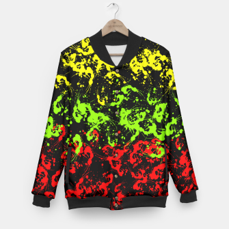Thumbnail image of Rasta Paint Splatter  Baseball Jacket, Live Heroes