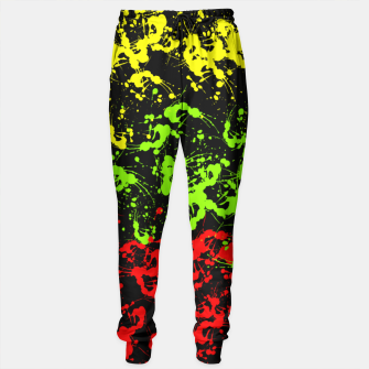 Thumbnail image of Rasta Paint Splatter  Sweatpants, Live Heroes