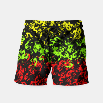 Thumbnail image of Rasta Paint Splatter  Swim Shorts, Live Heroes