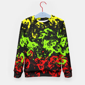 Thumbnail image of Rasta Paint Splatter  Kid's Sweater, Live Heroes